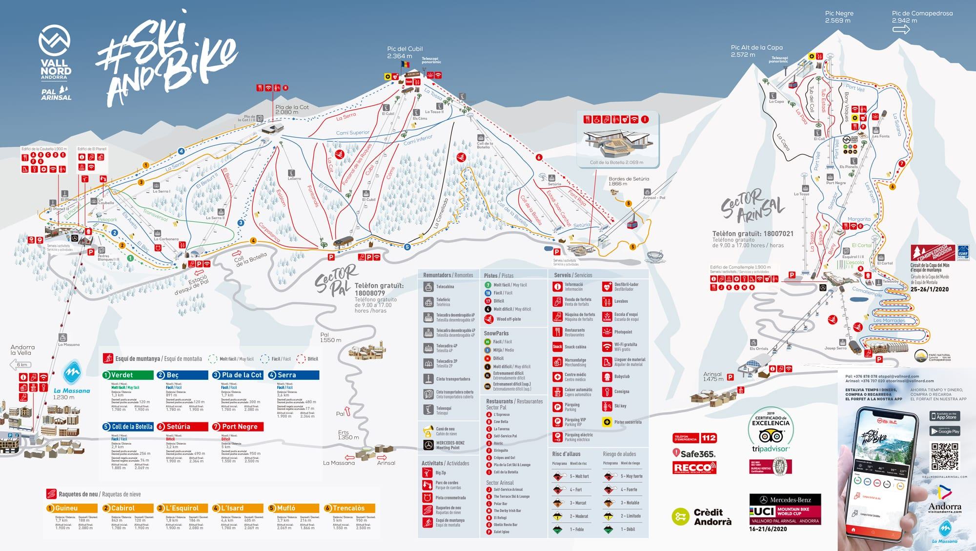 Vallnord Pal ArinsalPiste Map Andorra