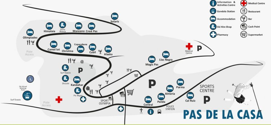 Pas de la Casa resort Map